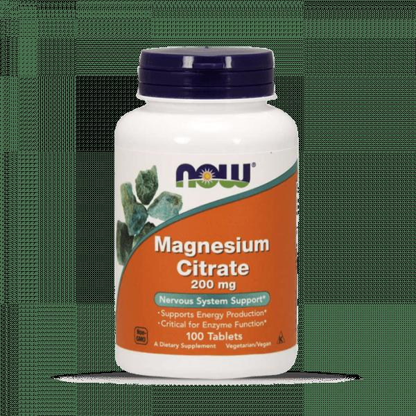 Now Foods - Magnesium Citrate 200mg (100) Standard Vitamine und Mineralien