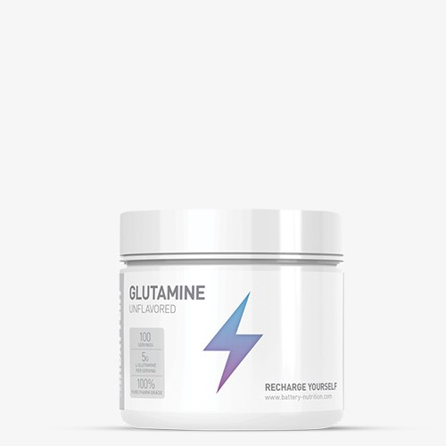 BATTERY GLUTAMINE 500g, Unflavored Aminos