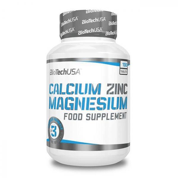 BioTechUSA Calcium Zinc Magnesium, 100 Tabletten Vitamine und Mineralien