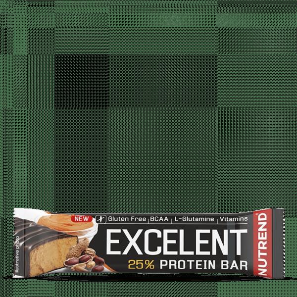 NUTREND EXCELENT PROTEIN BAR 18 x 85g - Peanut Butter - MHD 09.10.2020