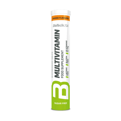 BioTechUSA Multivitamin Brausetabletten, 20 Stück, Orange
