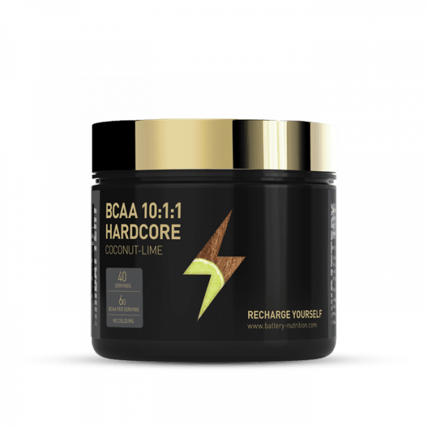BATTERY BCAA 10:1:1 HARDCORE 300g Aminos - Coconut Lime - MHD 31.10.2020