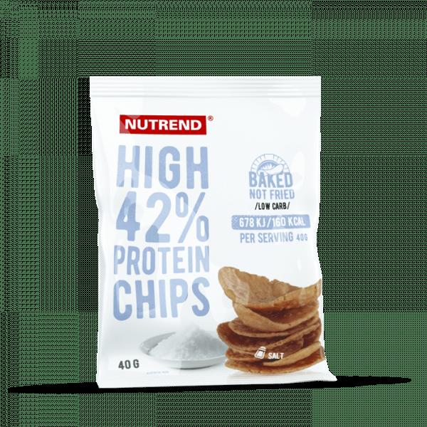 NUTREND HIGH PROTEIN CHIPS, 6 x 40g Bars und Snacks