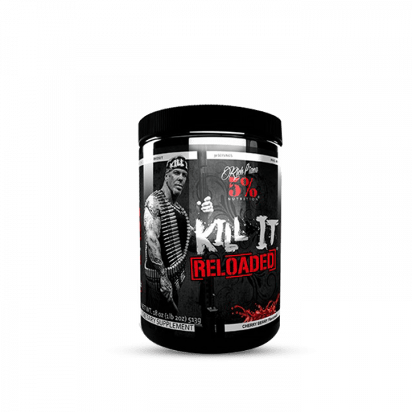 5% Nutrition Kill It Reloaded, 513g Trainings Booster - Cherry Berry - MHD 31.08.2020