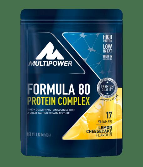 MULTIPOWER Formula 80 Protein Complex. 510g Proteine Lemon-Cheesecake - MHD 31.07.2021