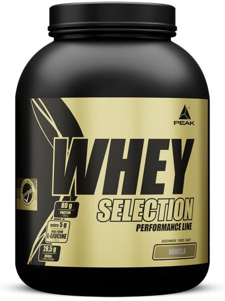 PEAK Whey Selection 1800g Proteine - Vanilla - MHD 31.03.2021