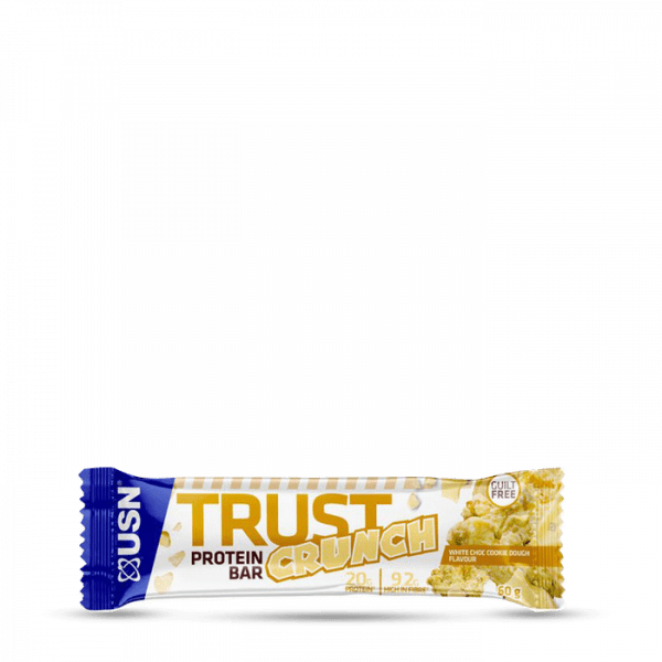 USN Trust Crunch Bars 12x60g White Choc Cookie Bars und Snacks