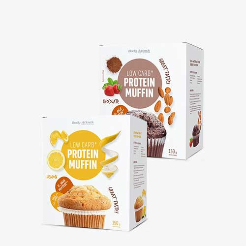 BODY ATTACK Low-Carb Protein-Muffins Chocolate 150g Food