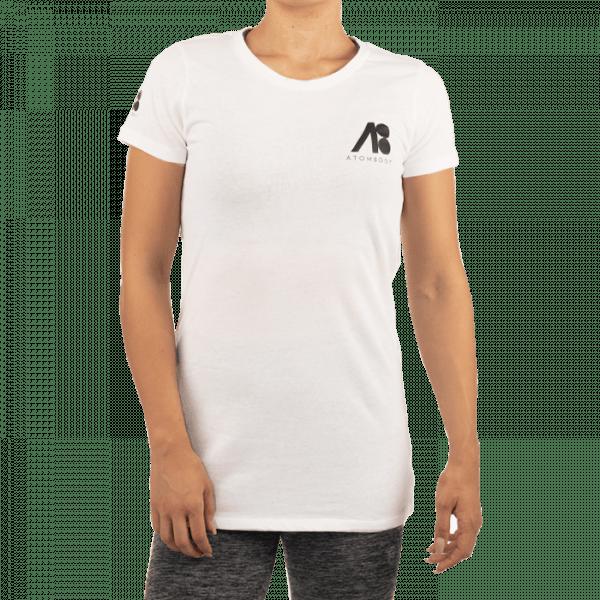 ATOMBODY T-Shirt basic ultra long, woman, white Sportbekleidung