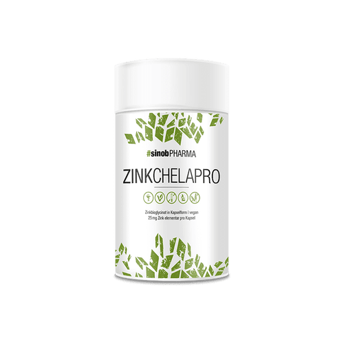 SINOB Zink Chelapro 60 vegane Kapseln Vitamine und Mineralien