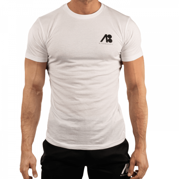 ATOMBODY T-Shirt MUST HAVE, men, L, white Sportbekleidung