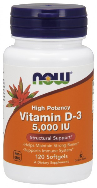 NOW FOODS - Vitamin D-3 5,000 IU 120 Softgels