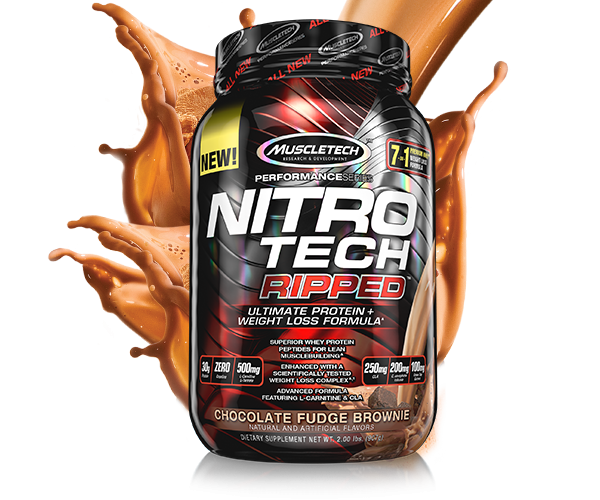 Muscletech - Performance Series Nitro-Tech Ripped, 903g - Chocolate Fudge Brownie