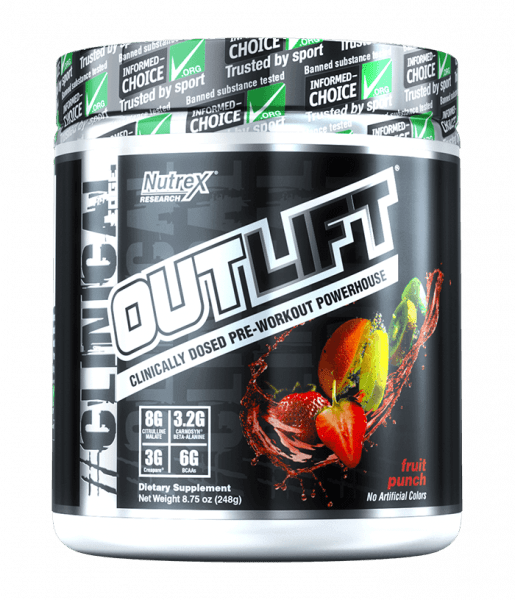 Nutrex Research - Outlift (10 Serv) Fruit Punch