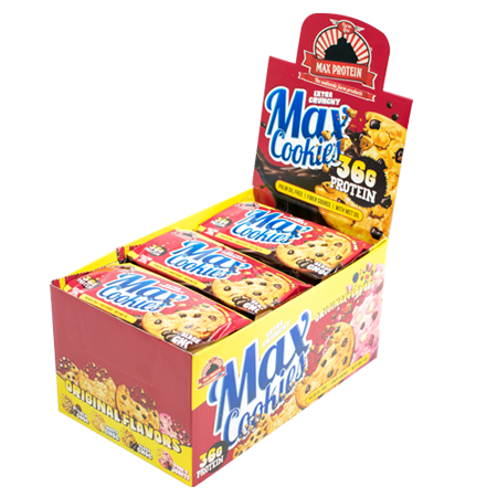 MAX PROTEIN MAX COOKIES, 9 x 100g Bars und Snacks