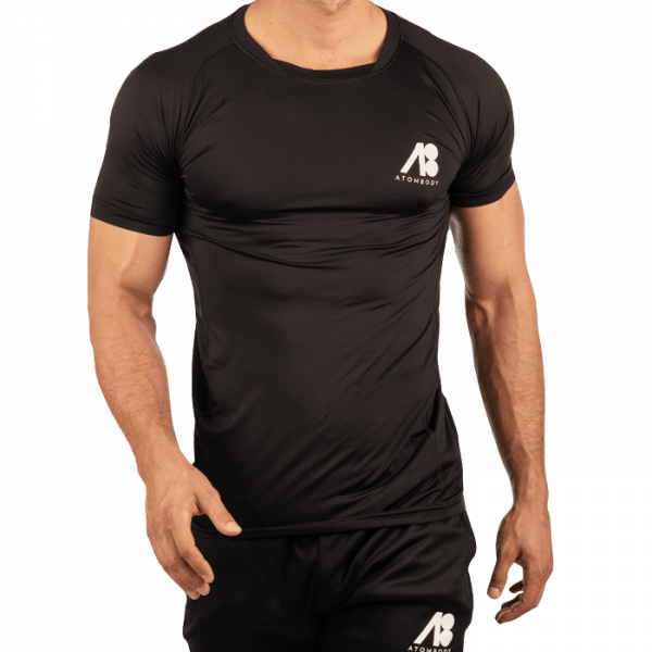 ATOMBODY T-Shirt slimfit sport, men, XL, black
