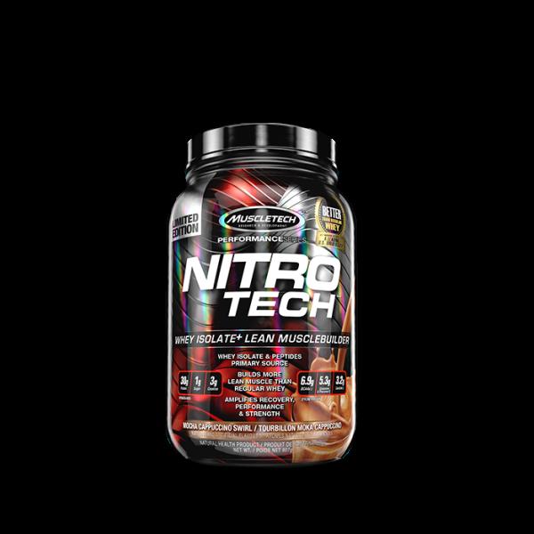 Muscletech - Performance Series Nitro-Tech, 908g - Mocha Cappucino Swirl Proteine