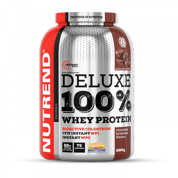 NUTREND DELUXE 100% WHEY 2250g Proteine - Chocolate Brownies - MHD 25.04.2021