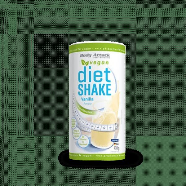 Body Attack Diet Shake Vegan 430g Diät Produkte - Vanilla - MHD 31.10.2020