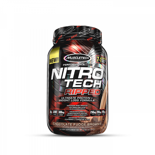 MUSCLETECH - Performance Series Nitro-Tech Ripped, 903g - Chocolate Fudge Brownie Proteine