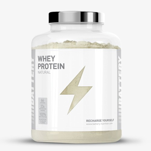 BATTERY WHEY PROTEIN NATURAL, 2000g Proteine