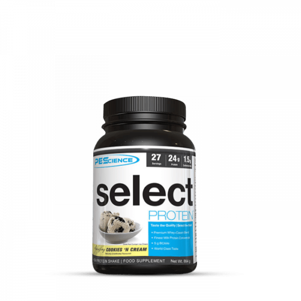 PES Select Protein, 908g Proteine - Cookies & Cream - MHD 30.04.2021