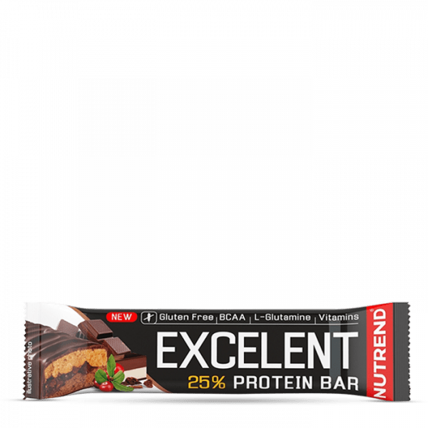 NUTREND EXCELENT BAR DOUBLE 18 x 85g - Chocolate + Nougat with Cranberries - MHD 08.10.2020
