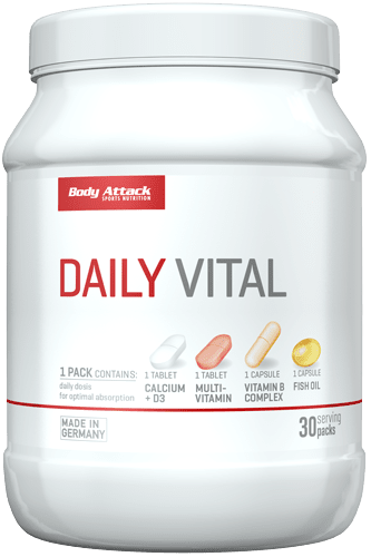 Body Attack Daily Vital 30 Portionen, 30 Päckchen