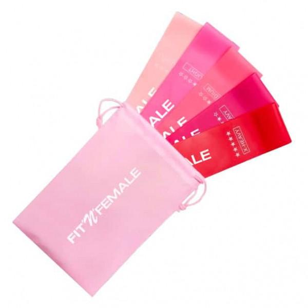 FITNFEMALE Shape-Bands Pink 5er-Set